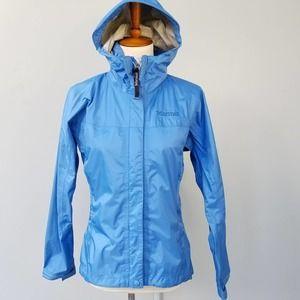 Marmot Waterproof Windbreaker Rain Jacket Blue XS